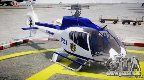 Eurocopter EC 130 LCPD para GTA 4 vista hacia atrás