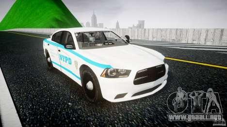 Dodge Charger NYPD 2012 [ELS] para GTA 4 vista hacia atrás