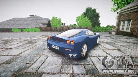 Ferrari F430 v1.1 2005 para GTA 4 Vista posterior izquierda