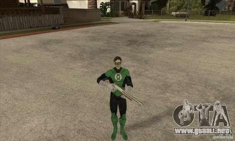 Green Lantern para GTA San Andreas sucesivamente de pantalla