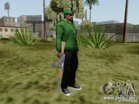 AK-47 de Saints Row 2 para GTA San Andreas quinta pantalla