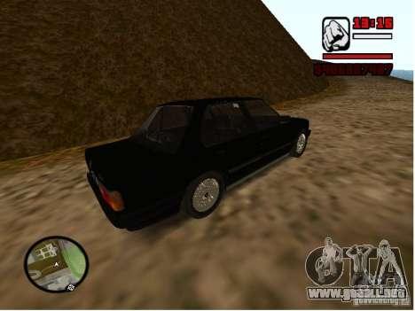 BMW 325i E30 para GTA San Andreas vista posterior izquierda