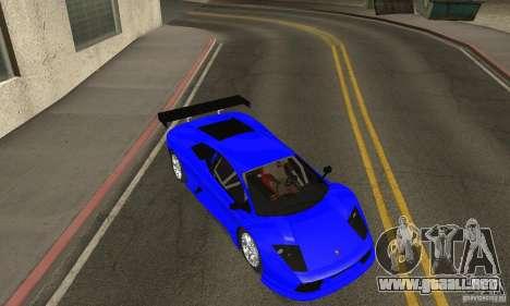 Lamborghini Murcielago R GT para vista lateral GTA San Andreas