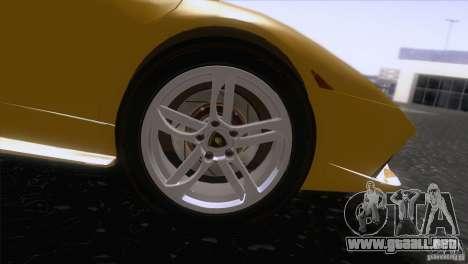 Lamborghini Murcielago LP640 2006 V1.0 para GTA San Andreas vista hacia atrás