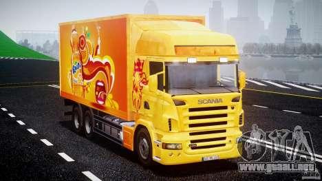 Scania R580 Tandem para GTA 4 visión correcta