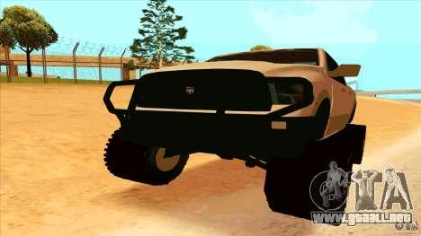 Dodge Ram 2500 4x4 para la visión correcta GTA San Andreas