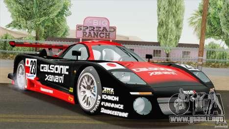 Nissan R390 GT1 1998 v1.0.1 para GTA San Andreas vista posterior izquierda