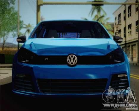 Volkswagen Golf R 2010 para la visión correcta GTA San Andreas