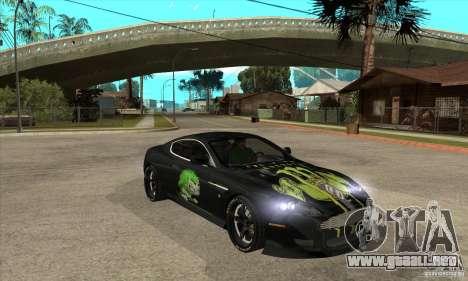 Aston Martin DB9 NFS PS Tuning para GTA San Andreas vista hacia atrás