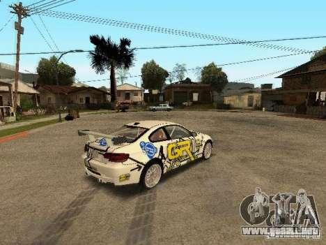BMW M3 E92 Grip King para GTA San Andreas vista posterior izquierda