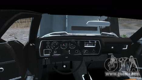 Chevrolet El Camino SS 1970 para GTA 4 Vista posterior izquierda