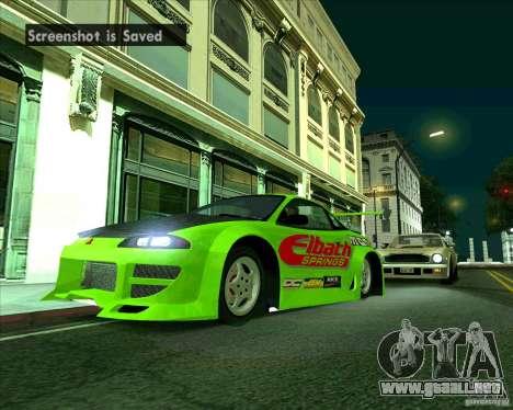 Mitsubishi Eclipse GS-t para GTA San Andreas vista posterior izquierda
