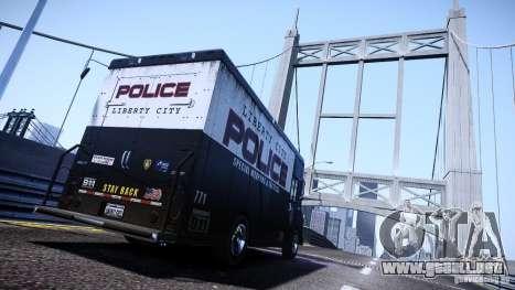 Boxville Police para GTA 4 left