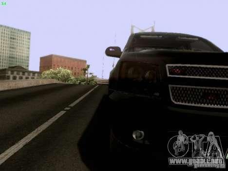 Chevrolet Tahoe 2009 Unmarked para vista lateral GTA San Andreas