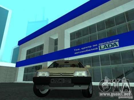 VAZ 2108 CR v. 2 para la visión correcta GTA San Andreas