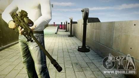 Barrett 98B (francotirador) para GTA 4 tercera pantalla
