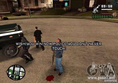 Ganó libertad de policía 1.0 para GTA San Andreas tercera pantalla