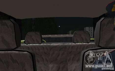 VAZ 2115 policía DPS para la vista superior GTA San Andreas