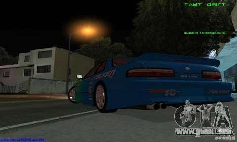 Nissan Silvia S13 Tunable para la vista superior GTA San Andreas