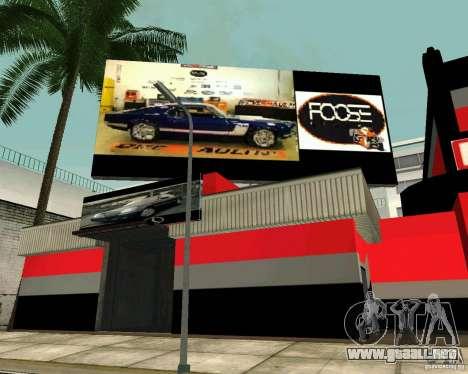 Taller de OVERHAULIN para GTA San Andreas sucesivamente de pantalla