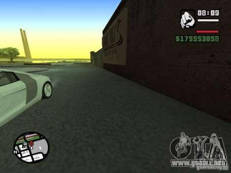 Primera persona (First-Person mod) para GTA San Andreas tercera pantalla