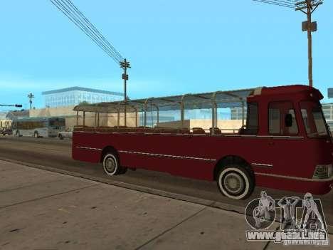 LIAZ 677 excursión para GTA San Andreas vista posterior izquierda