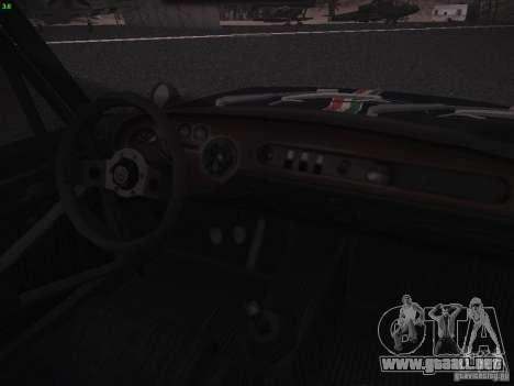 Lancia Fulvia Rally para GTA San Andreas vista hacia atrás