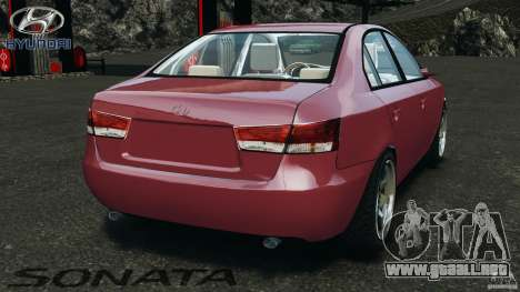 Hyundai Sonata v1.0 para GTA 4 Vista posterior izquierda