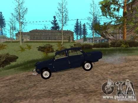 Moskvich andrajosos para GTA San Andreas vista posterior izquierda