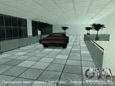 Showroom de trabajo en San Fierro v1 para GTA San Andreas tercera pantalla