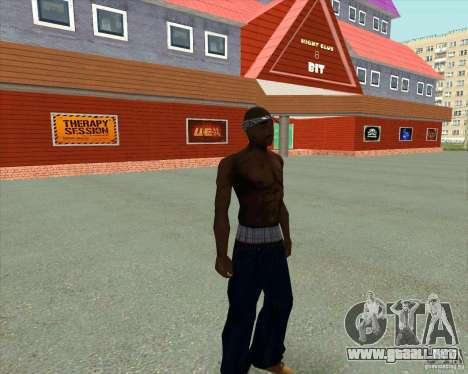 2Pac para GTA San Andreas sucesivamente de pantalla