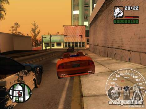 Spyder Cambriocorsa para la vista superior GTA San Andreas