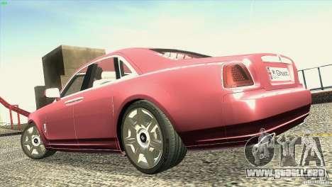 Rolls-Royce Ghost 2010 V1.0 para la vista superior GTA San Andreas