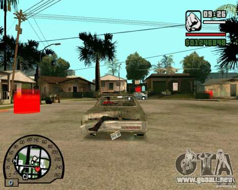 Plymouth Fury III para GTA San Andreas vista posterior izquierda