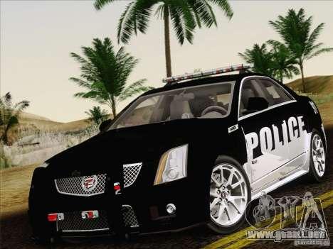 Cadillac CTS-V Police Car para vista lateral GTA San Andreas