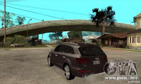 AUDI Q7 V12 V2 para GTA San Andreas vista posterior izquierda