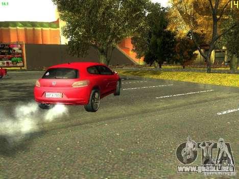 Volkswagen Scirocco 2009 para GTA San Andreas vista hacia atrás