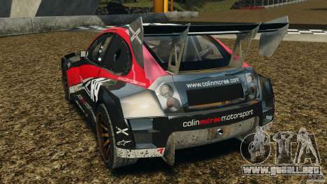 Colin McRae R4 Rallycross para GTA 4 Vista posterior izquierda