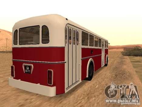 Ikarus 60 para GTA San Andreas vista posterior izquierda