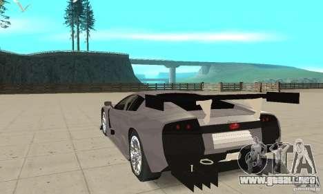 Lamborghini Murcielago R GT para GTA San Andreas vista posterior izquierda
