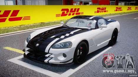 Dodge Viper SRT-10 ACR 2009 v2.0 [EPM] para GTA 4