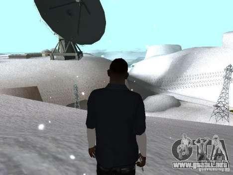 Snow MOD 2012-2013 para GTA San Andreas sucesivamente de pantalla