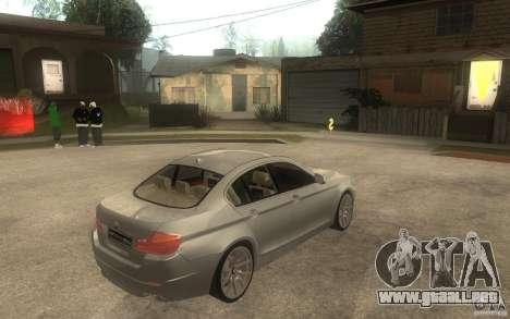 BMW 550i F10 para la visión correcta GTA San Andreas