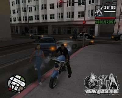Intermitentes 2.1 para GTA San Andreas tercera pantalla
