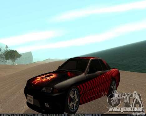 Nissan Skyline R32 GT-R + vinilo 3 para GTA San Andreas