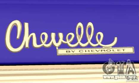 Chevrolet Chevelle SS 1970 para vista lateral GTA San Andreas