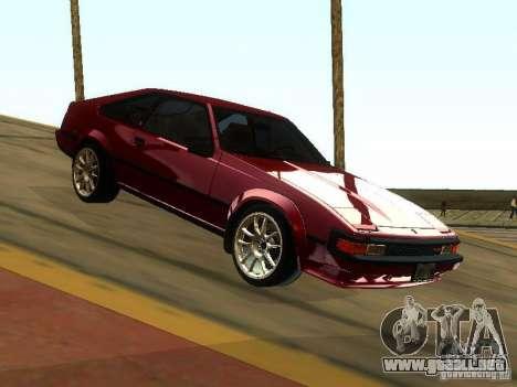 Toyota Celica Supra para GTA San Andreas vista hacia atrás