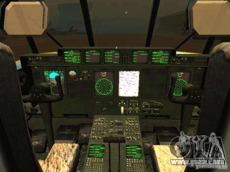 AC-130 Spooky II para vista lateral GTA San Andreas