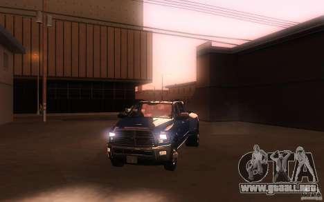 Dodge Ram 3500 Laramie 2010 para la vista superior GTA San Andreas