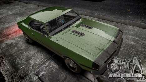 Chevrolet Camaro RS/SS 396 1968 para GTA 4 vista interior